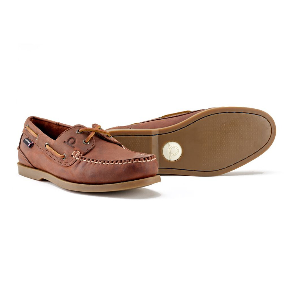 Chatham Deck II G2 Leather Boat Shoe Red Brown