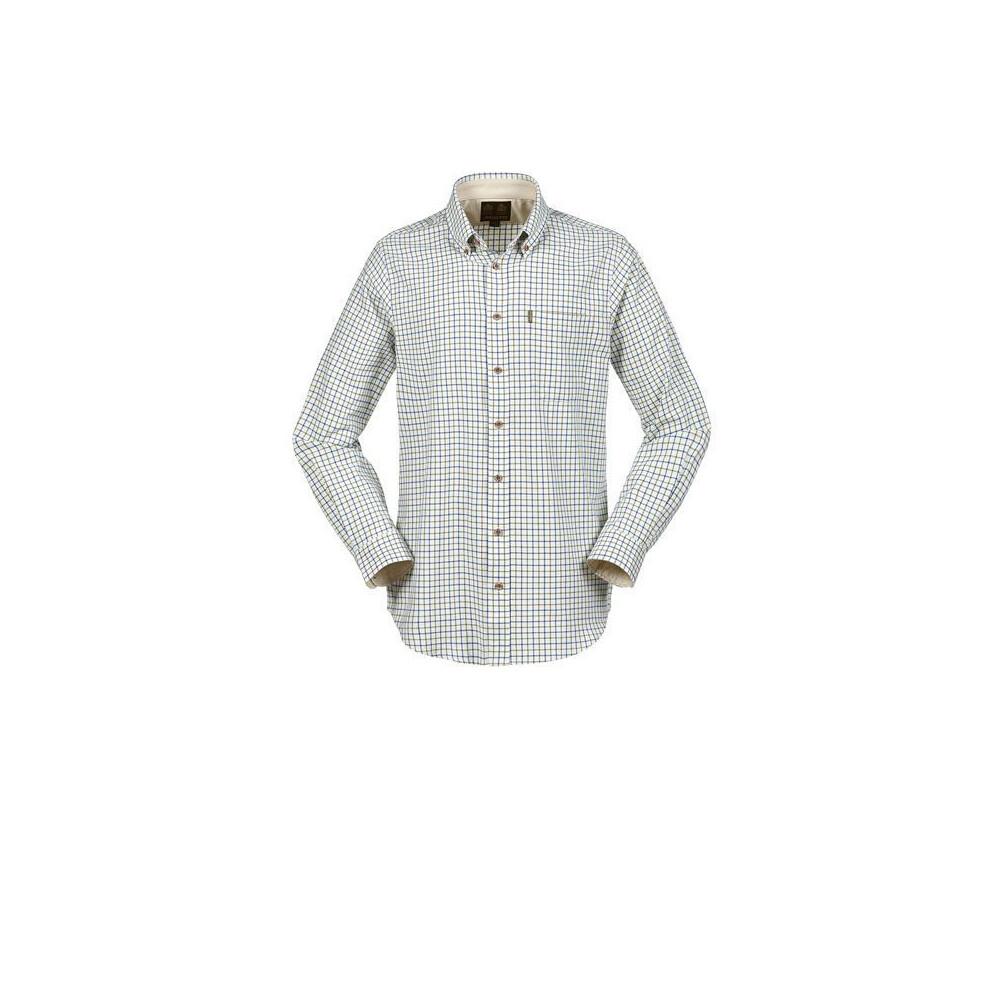 Musto Classic Button Down Shirt Field Check Royal Blue