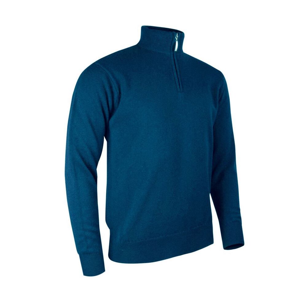 Glenmuir Men's Lambswool Zip Neck Jumper - Rhapsody