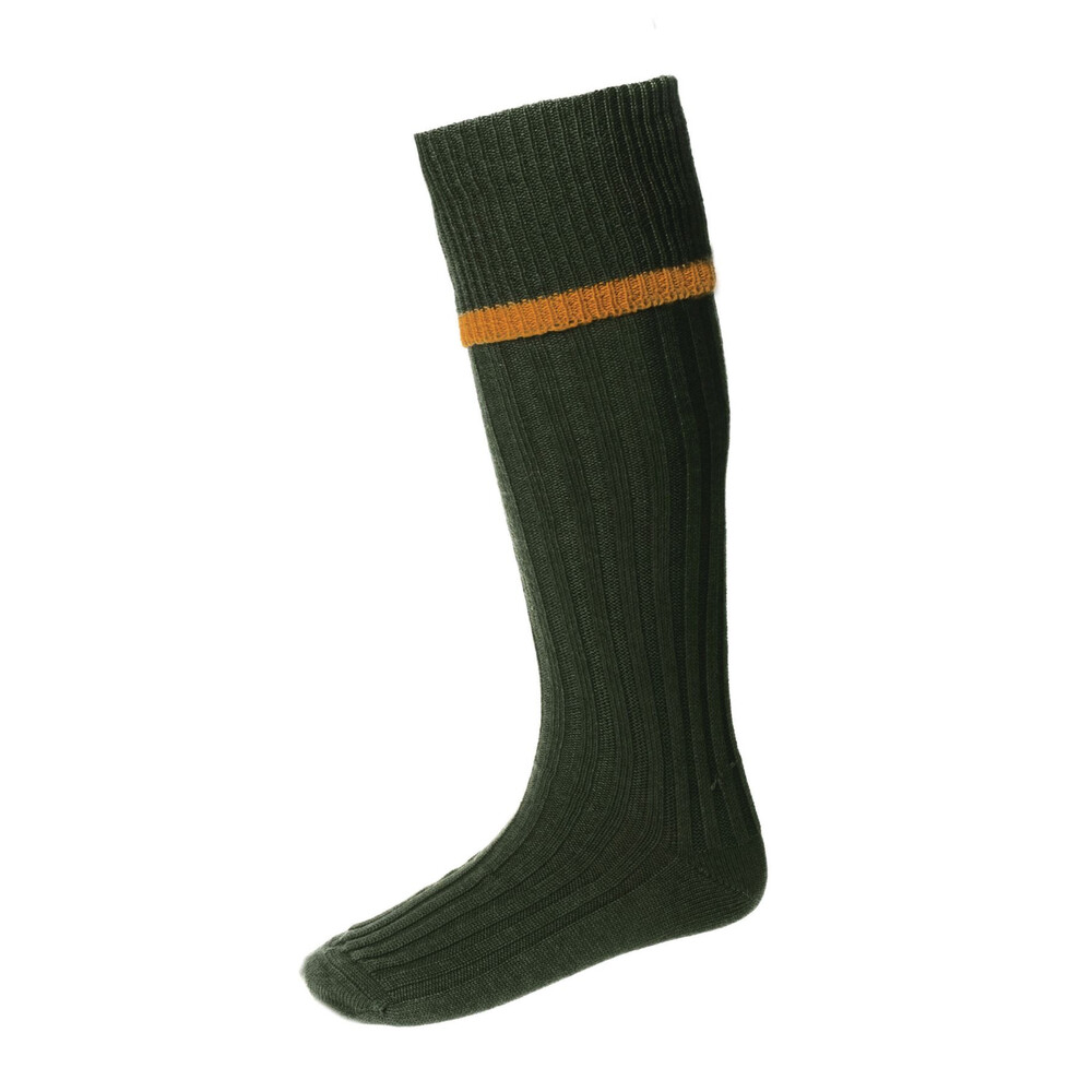 House of Cheviot House Of Cheviot Estate Field Sock - Spruce/Ochre
