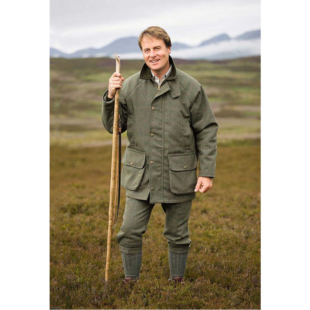Hoggs Of Fife Hoggs of Fife Edinburgh Tweed Jacket - /Claret Green