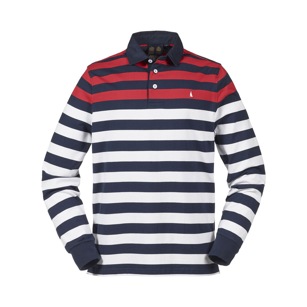 Musto Musto Lawson Striped Rugby Top - True Navy - 2XL