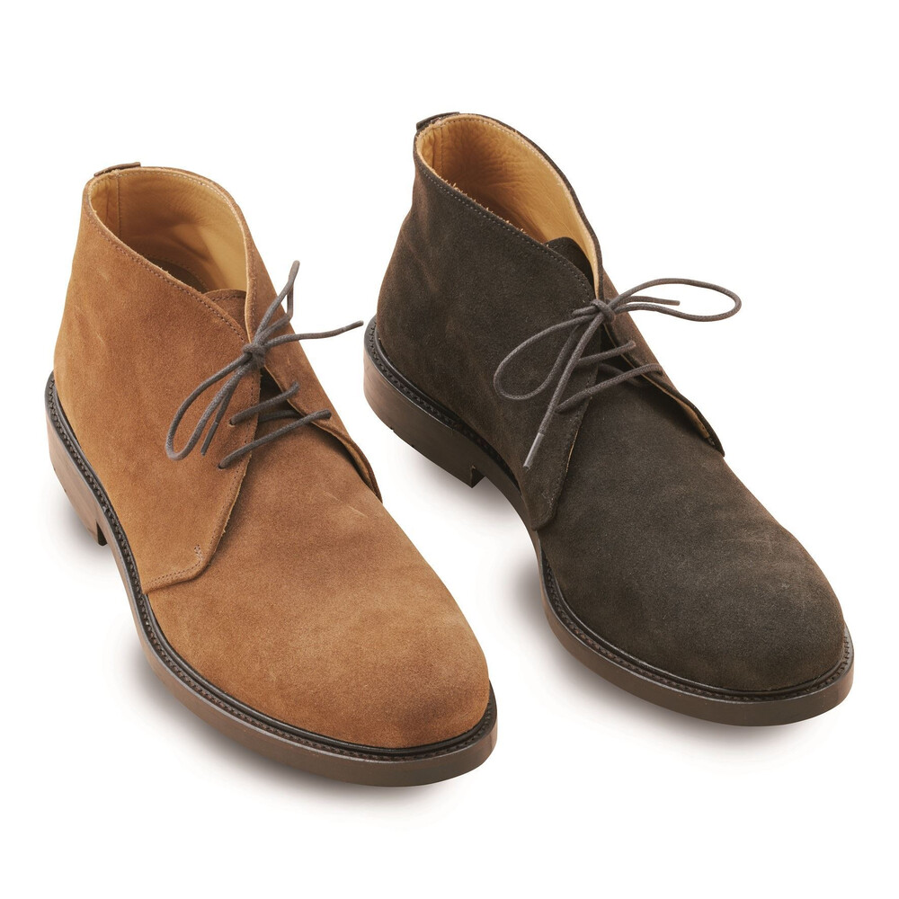Laksen Laksen Desert Boots - Chocolate in Tobacco