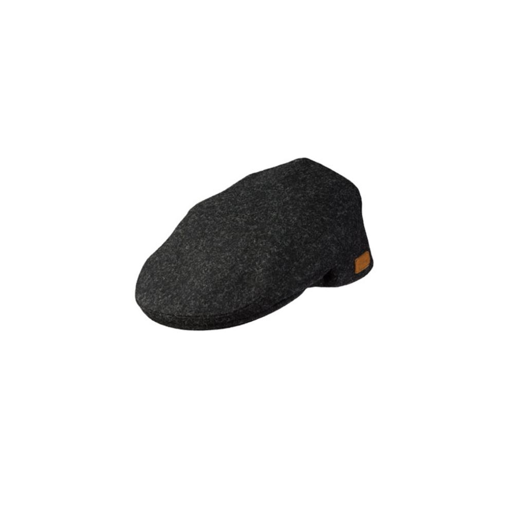 Olney Worcester Boiled Wool Cap - Charcoal Charcoal