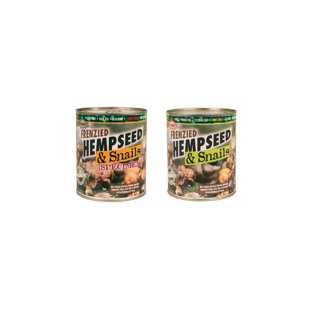 Dynamite Baits Frenzied Hempseed & Snails Assorted