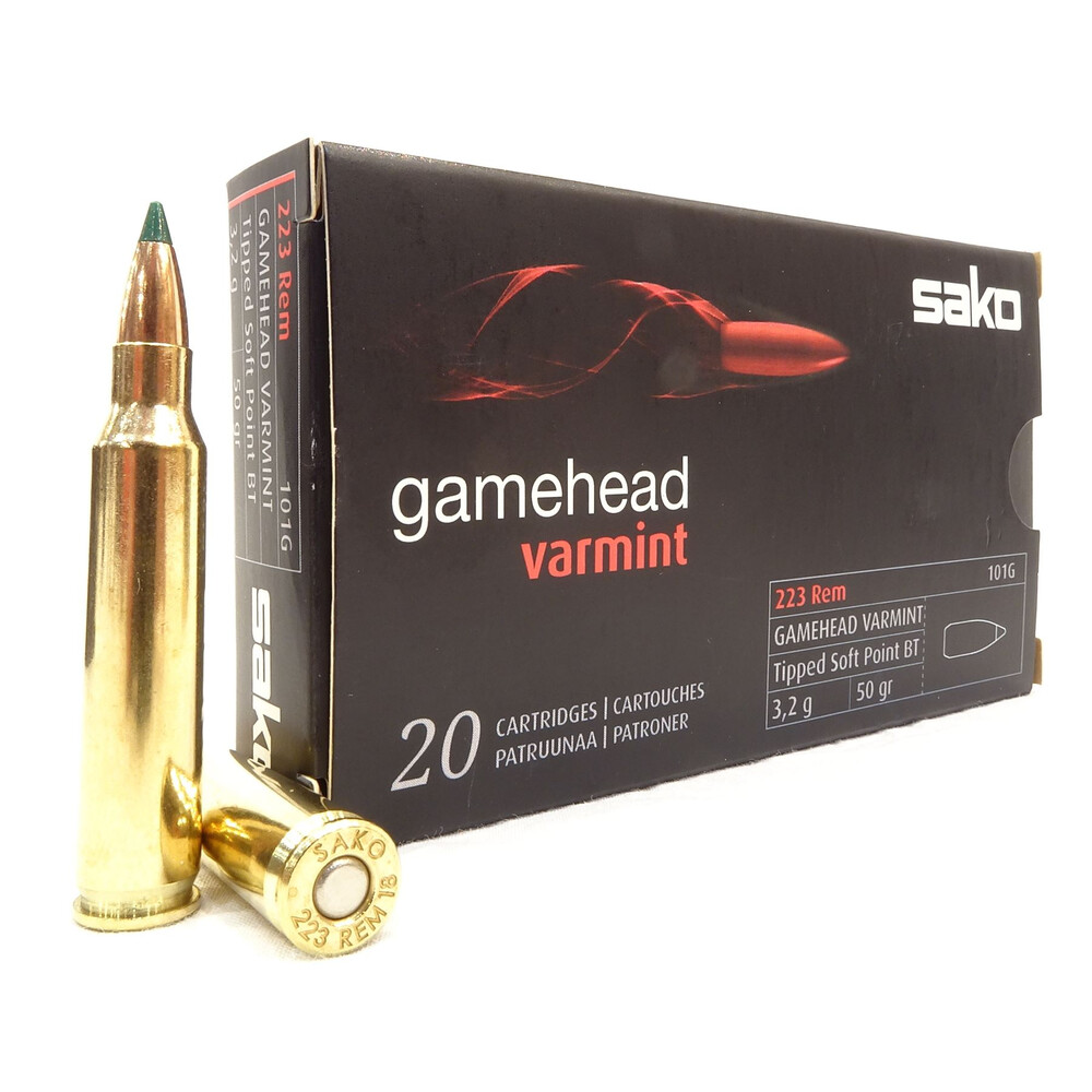 Sako .223 Ammunition - 50gr Gamehead Varmint