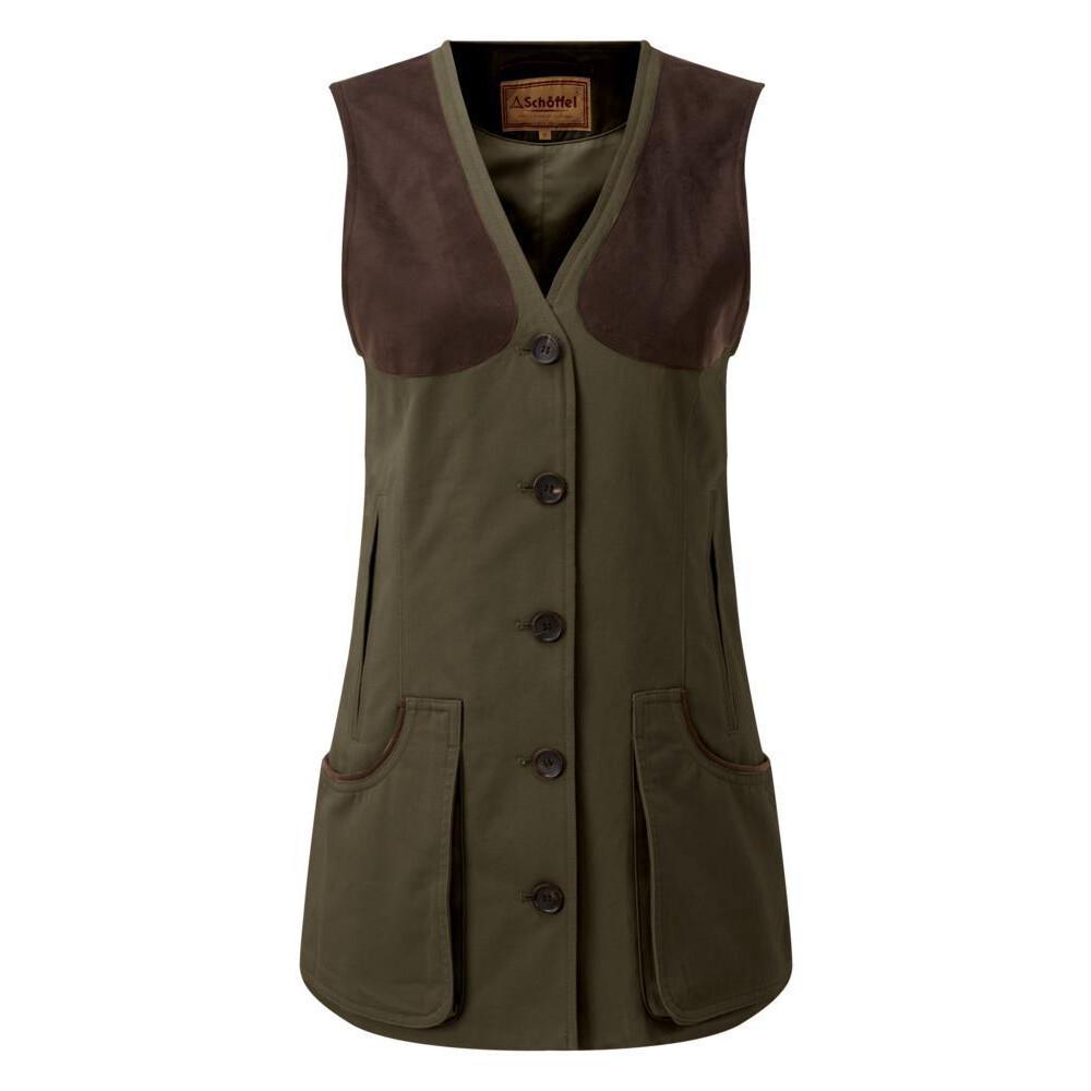Schoffel Schoffel All Season Ladies Shooting Vest - Dark Olive