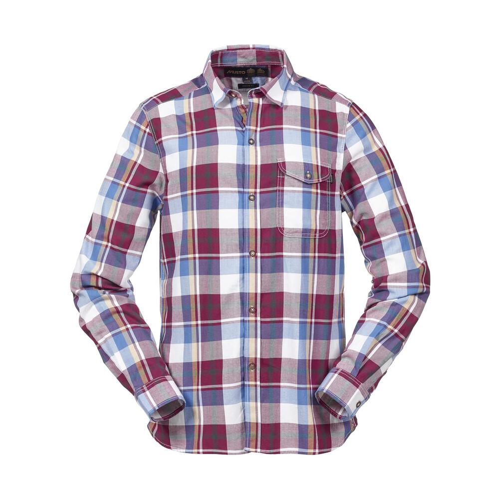 Musto Felix Check Shirt Purple