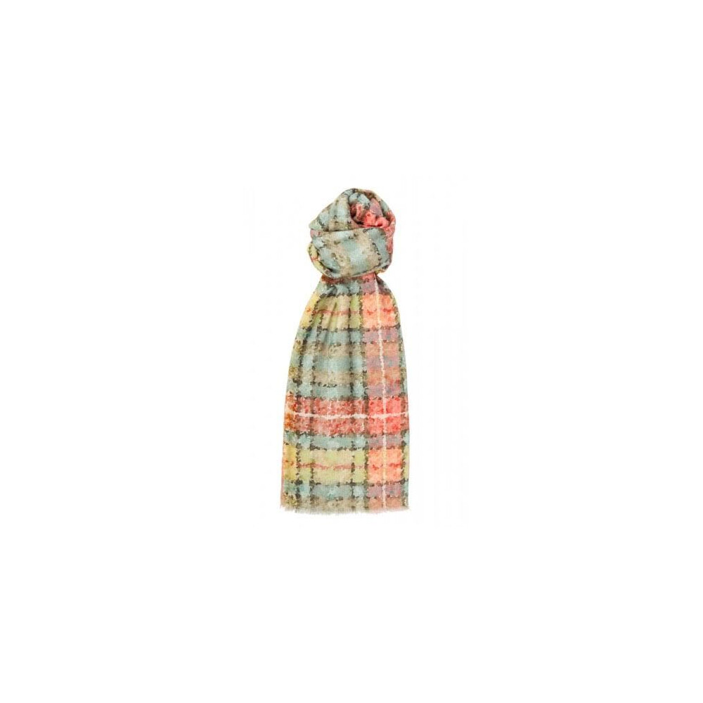 Murray Hogarth Hogarth Watercolour Tartan Modal / Cashmere Scarf - Antique Buchanan