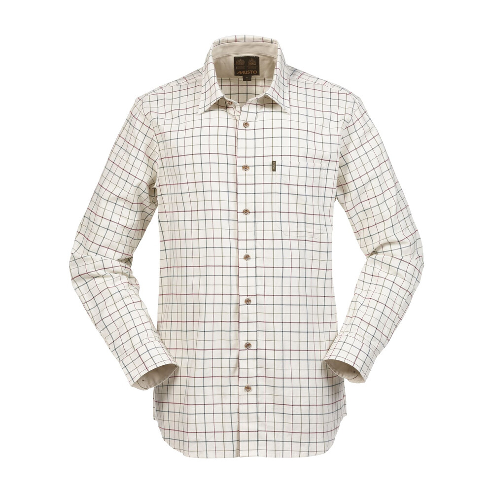 Musto Musto Classic Twill Shirt - Heather Green Check