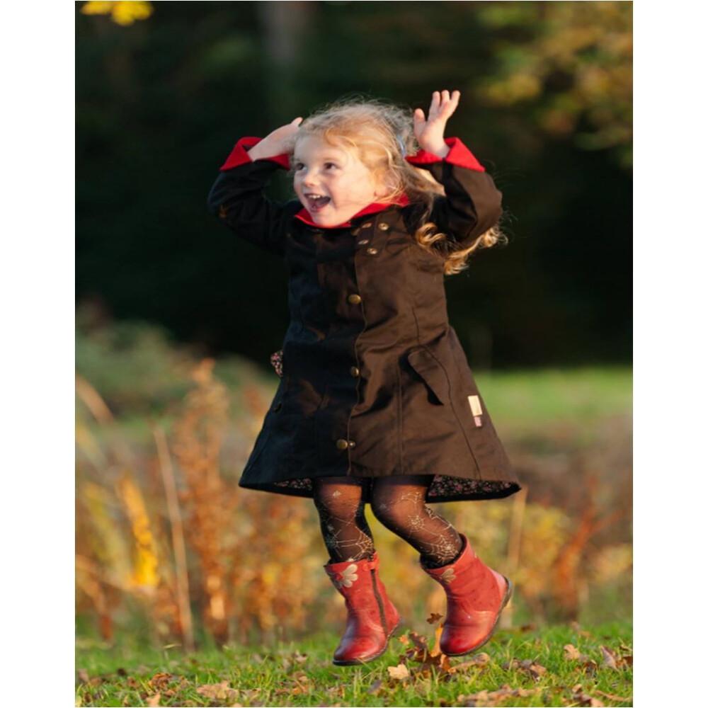 Welligogs Daisy Kids Coat - Black Charcoal