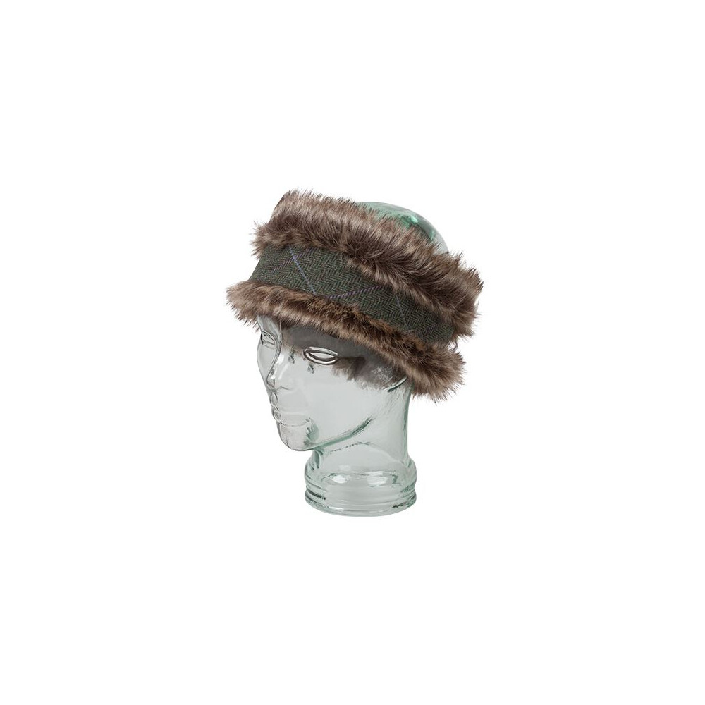 HOGGS OF FIFE Hoggs of Fife Albany Ladies Faux Fur/Lambswool Headband - One Size Green