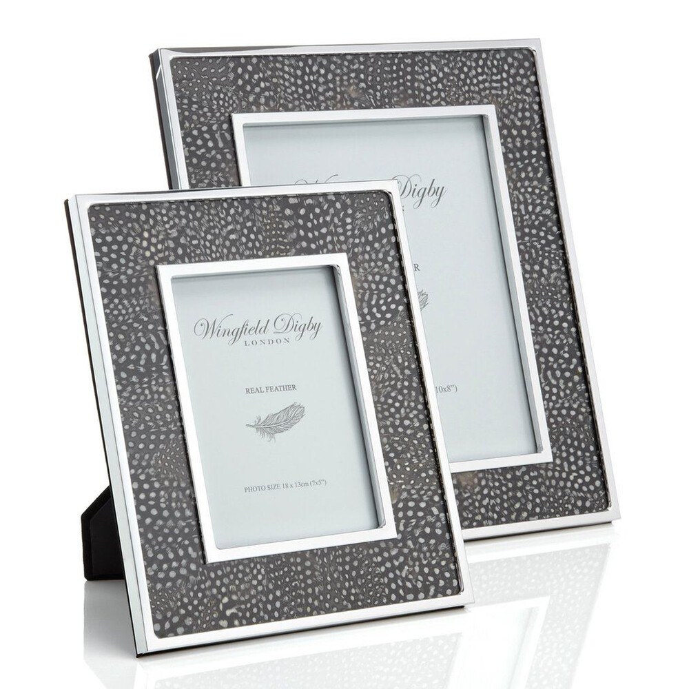 Wingfield Digby Wingfield Digby Photo Frame - Guinea Fowl Feather - 5 x 7""