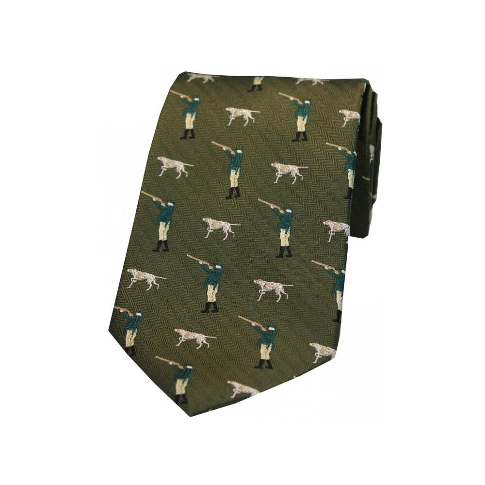 Soprano Country Silk Tie - Hunter and Pointer - Green