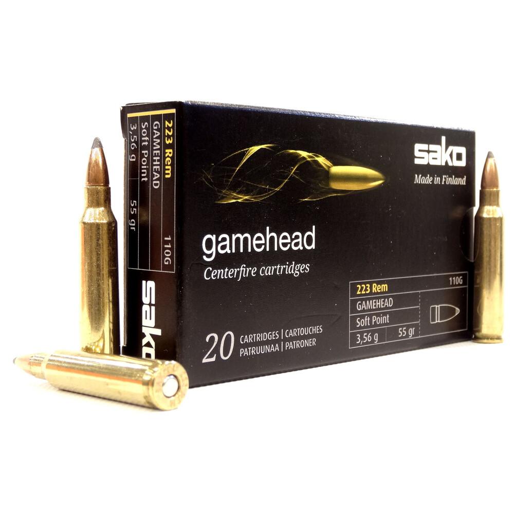 Sako .223 Ammunition - 55gr Gamehead