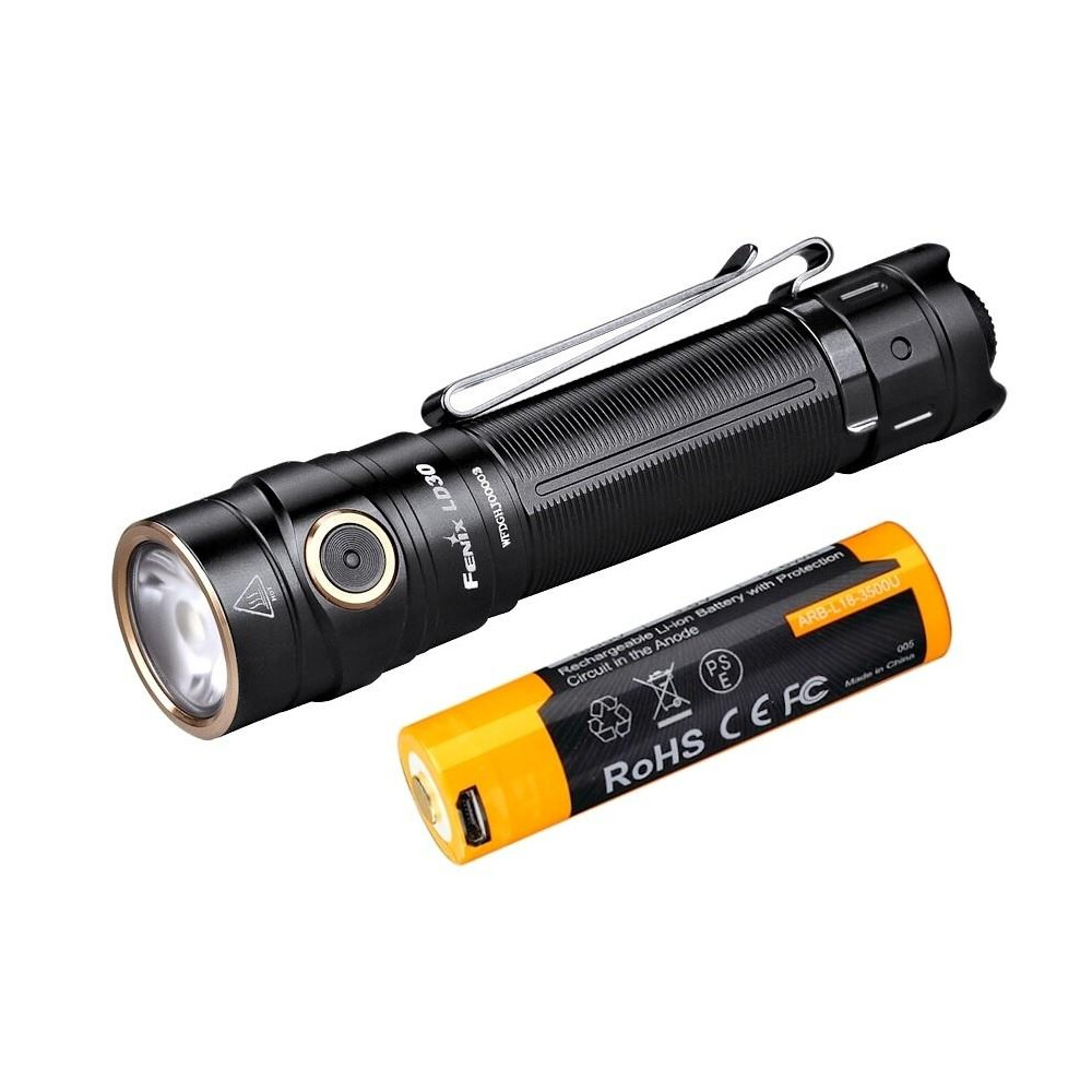 Fenix LD30 Torch 1600 Lumen (With ARB-L18-3500U USB Battery)