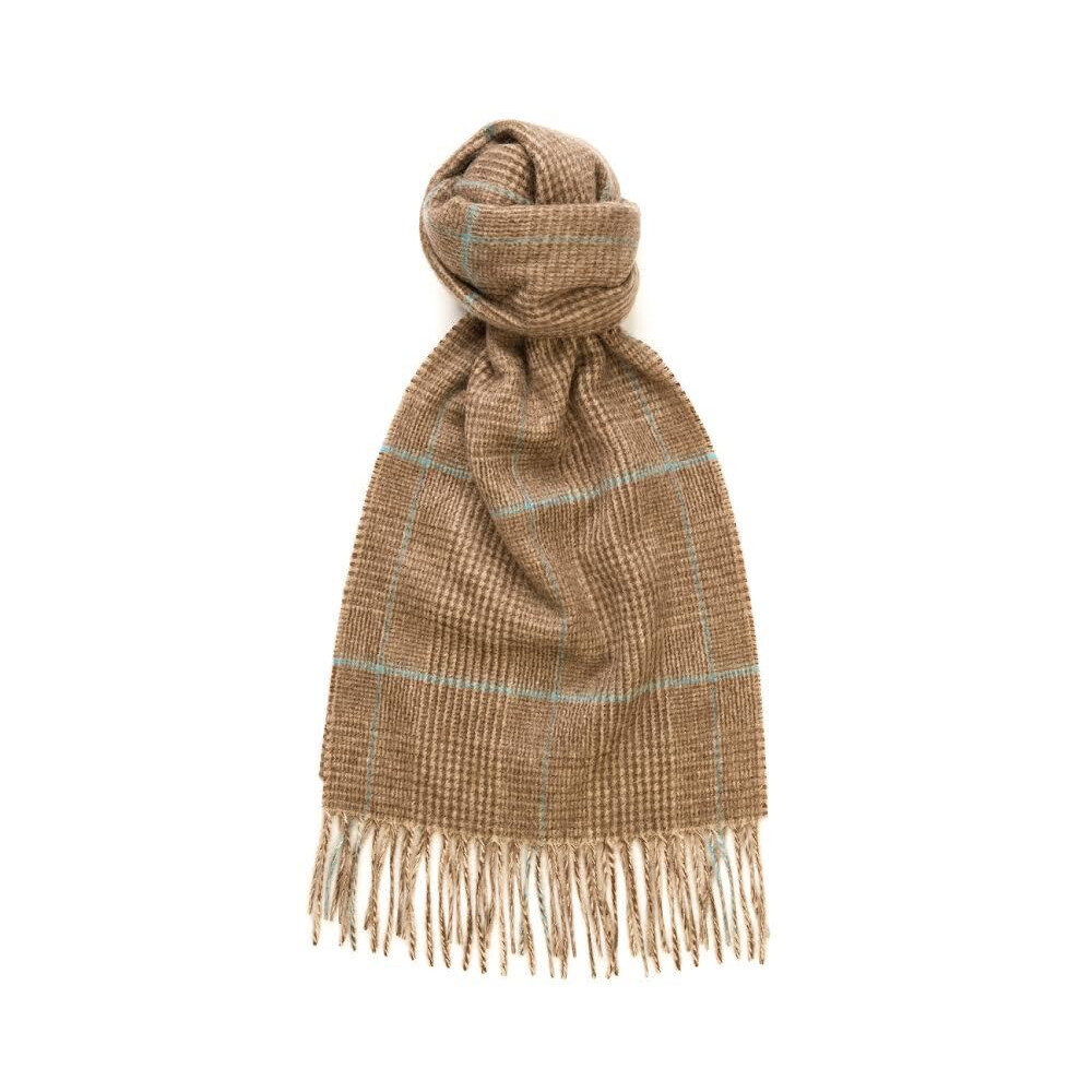 Murray Hogarth Hogarth Cashmere Glen Check Scarf - Brown/Lazuli Multi