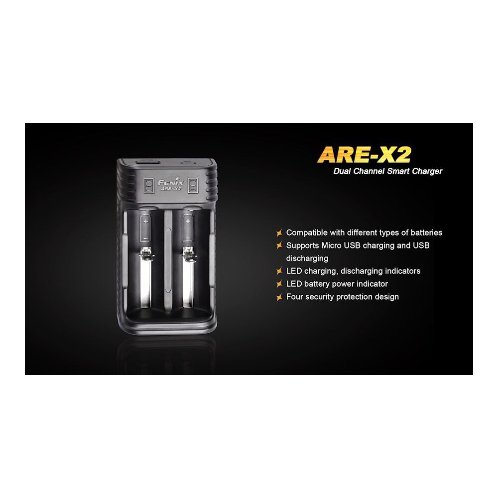 Fenix ARE-X2 Battery Charger & Power Bank Black