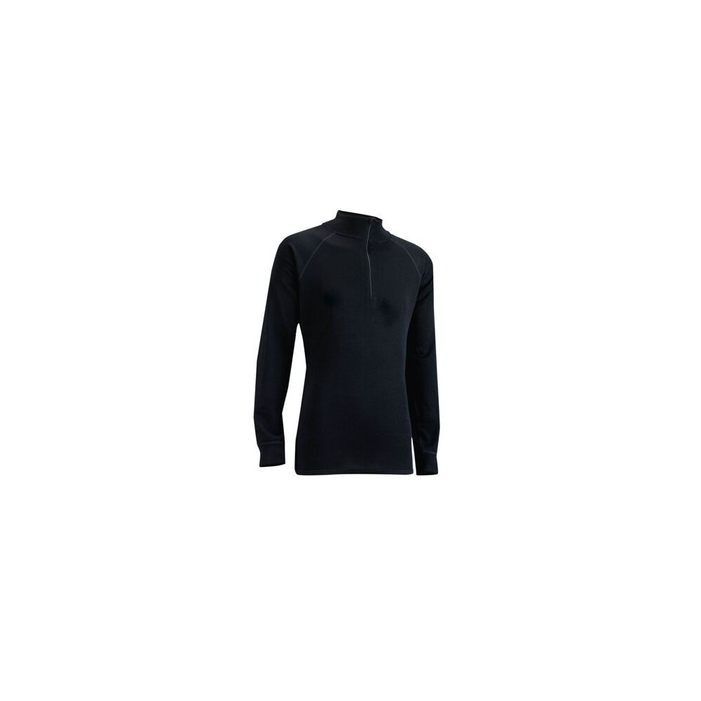Trekmates Bamboo Ladies Zip-Neck Top Black