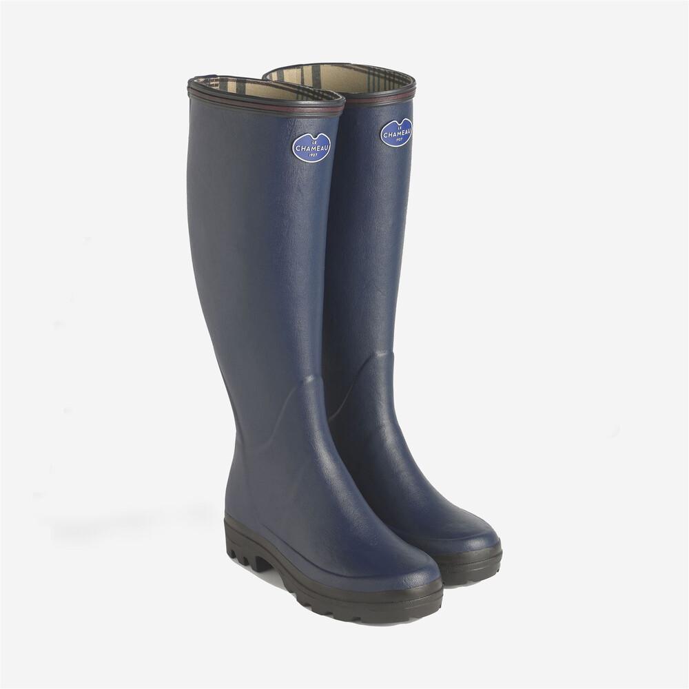 Le Chameau Giverny Ladies Wellington Boots - Blue