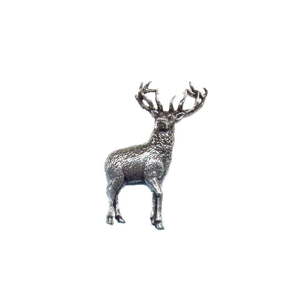 John Rothery Pewter Pin Badge - Stag