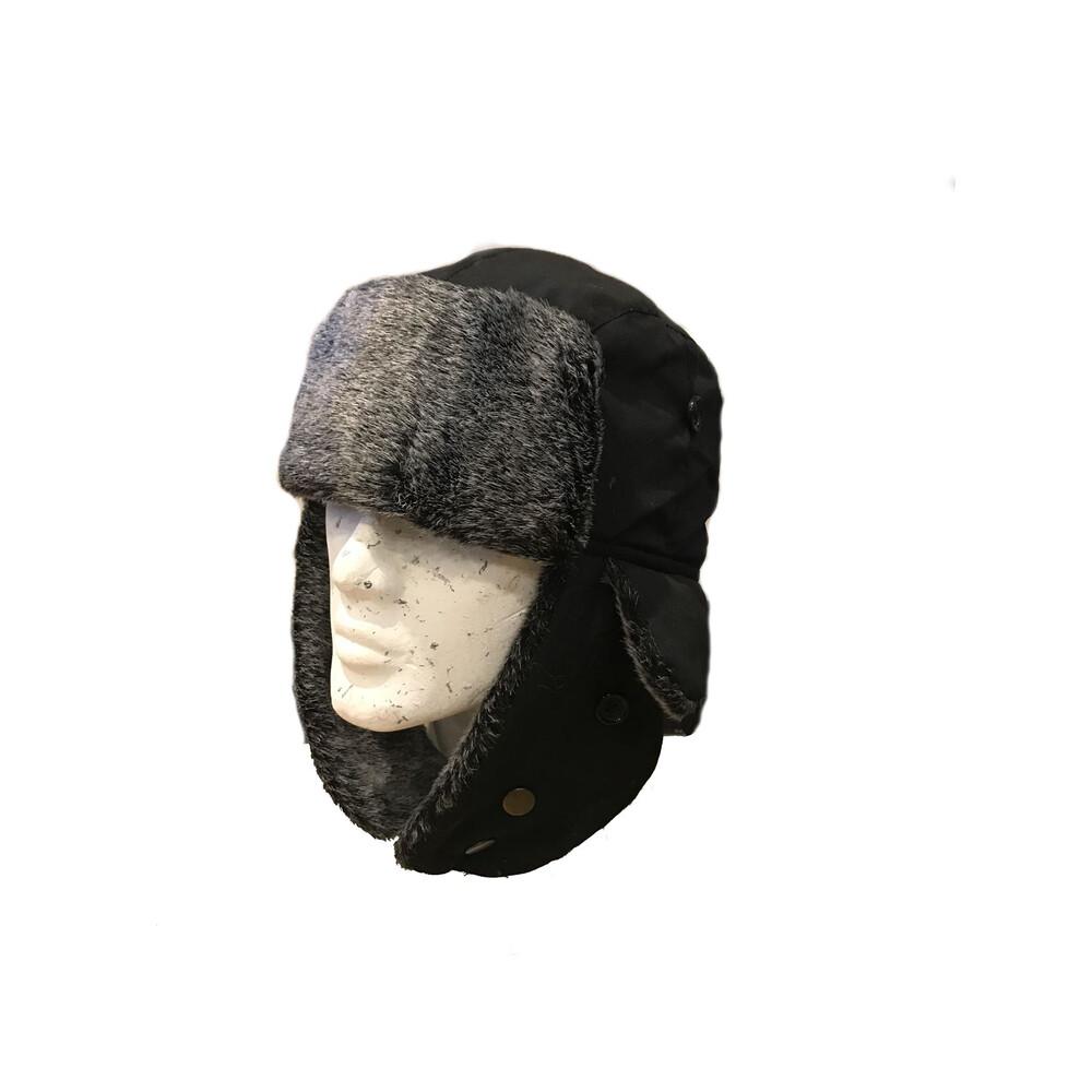 Unknown Joseph Shell Fabric Trapper Hat Black