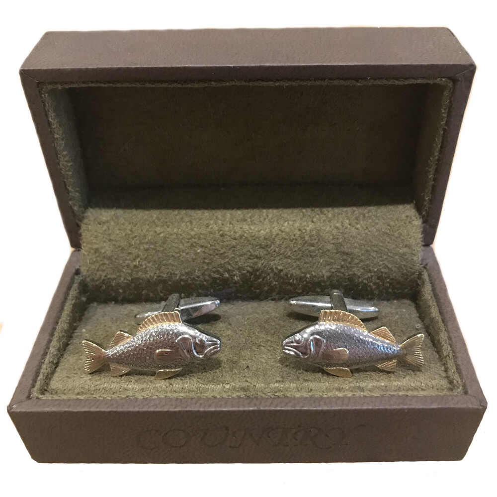 Soprano Country Cufflinks - Carp - Gold and Silver