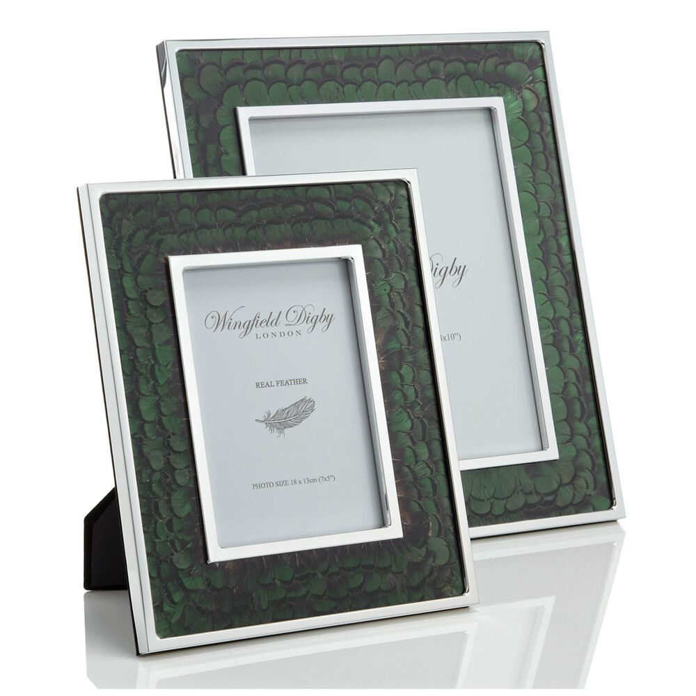 Wingfield Digby Wingfield Digby Photo Frame - Green Pheasant Feather - 5 x 7""