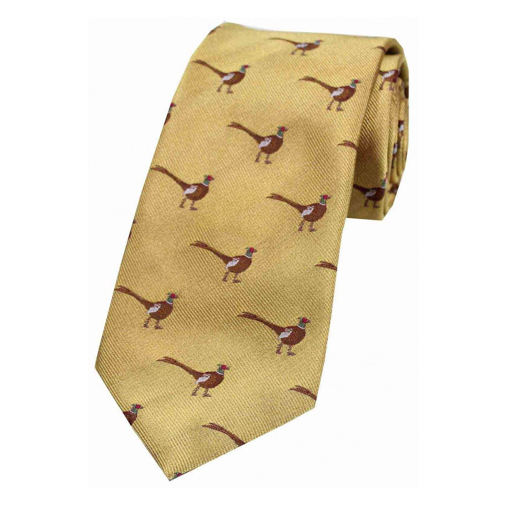 Soprano Country Silk Tie  - Standing Male Pheasant