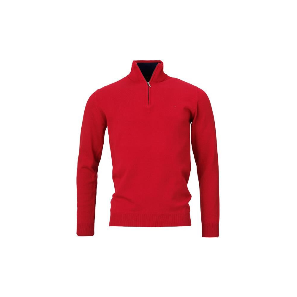 Laksen Fenton Zip-Neck Jumper - Red
