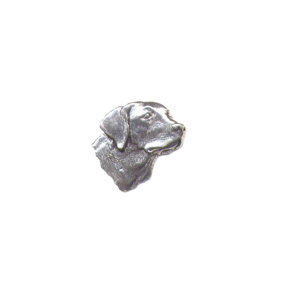 Unknown Pewter Pin Badge - Labrador Head