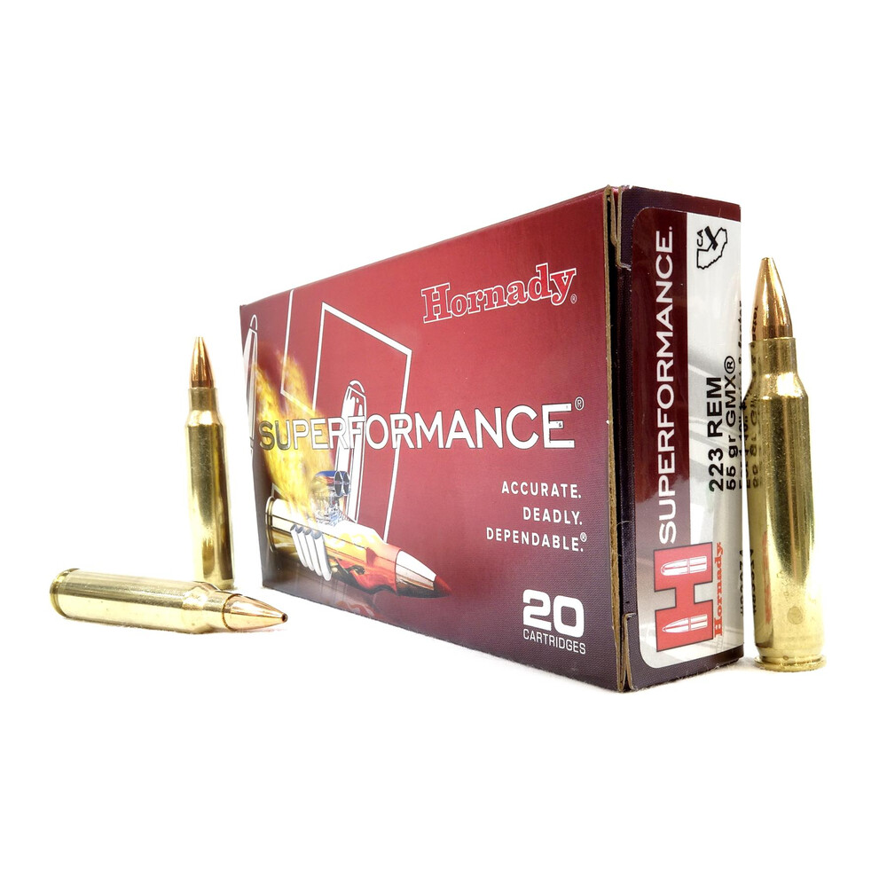 Hornady .223 Ammunition - 55gr - Superformance GMX Unknown