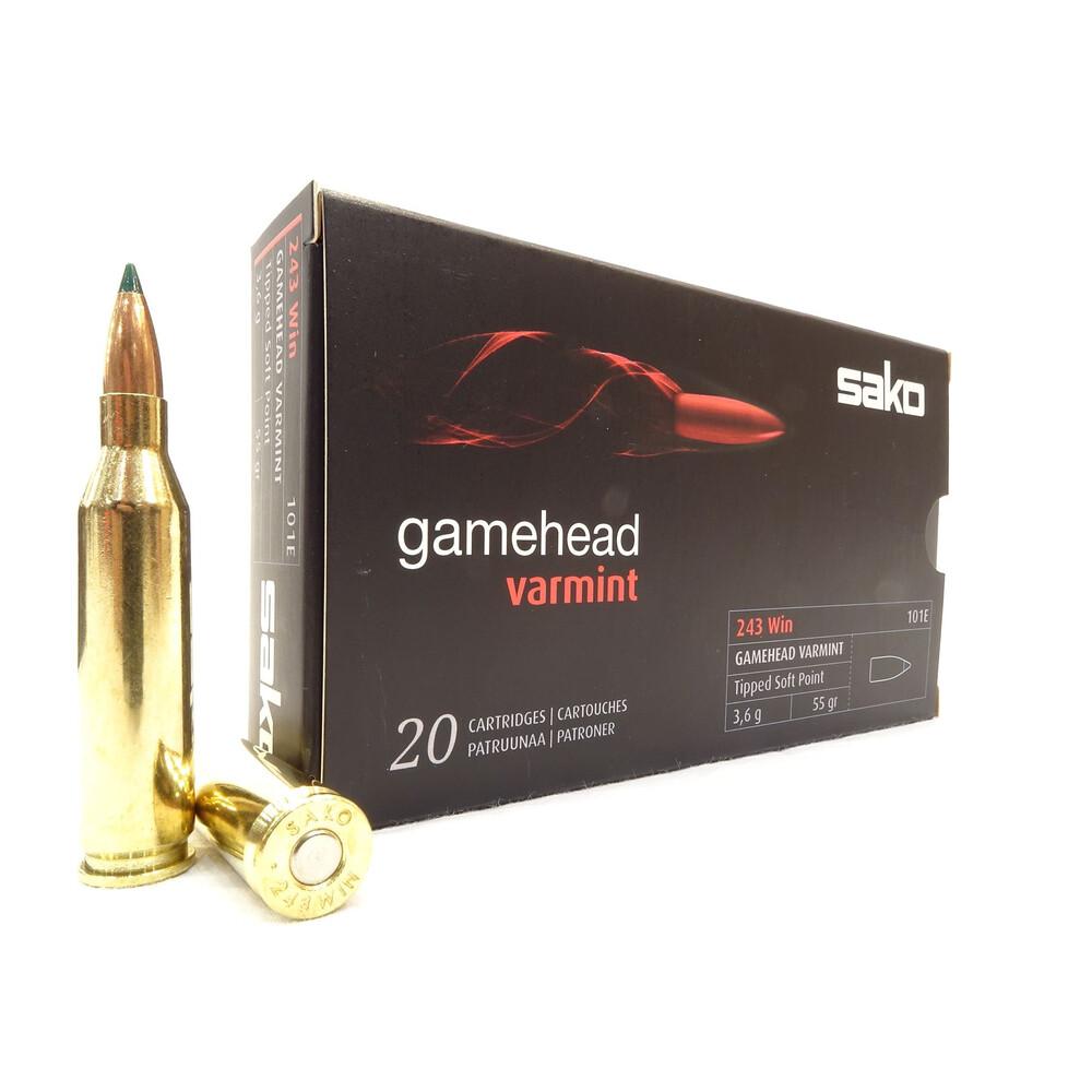 Sako .243 Ammunition - 55gr - Gamehead Varmint