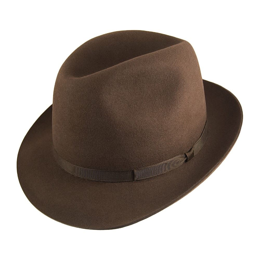 Olney Newbury Fur Felt Hat - Brown Brown