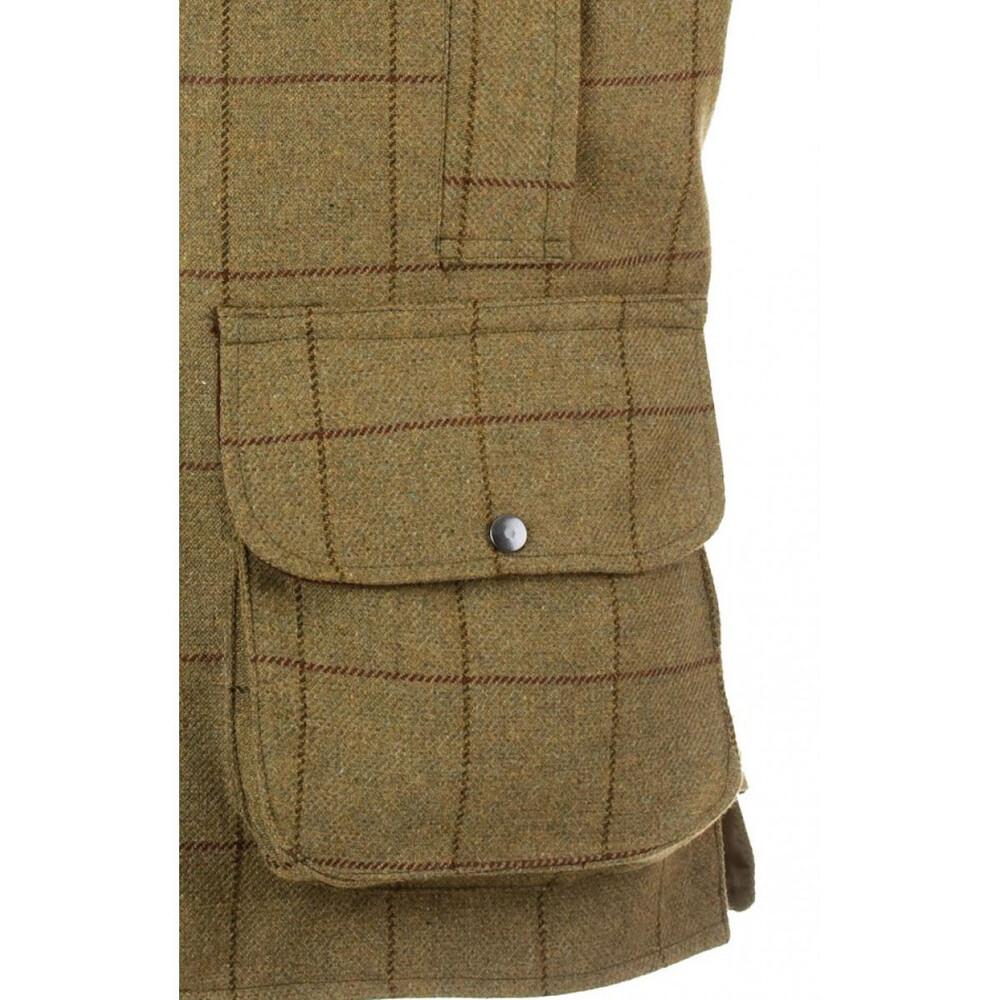 Alan Paine Rutland Tweed Waistcoat Lichen