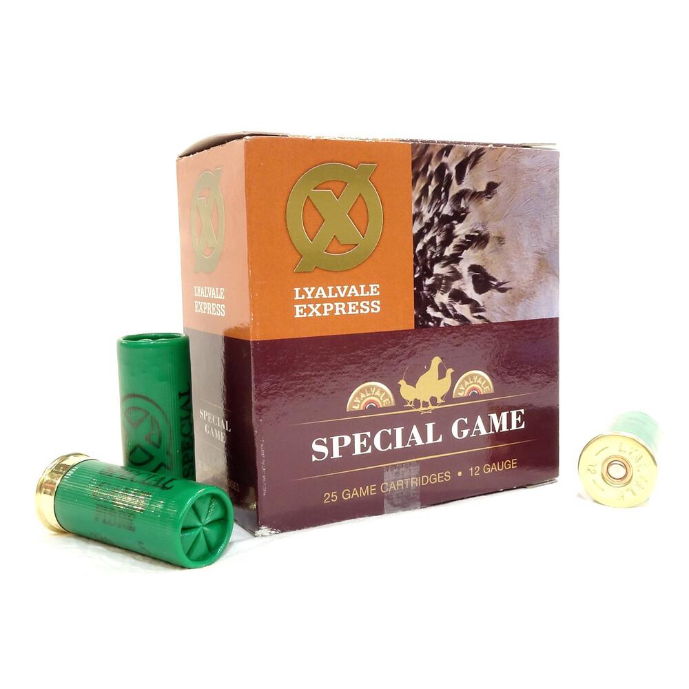 Lyalvale Express 12 Gauge - Special Game Shotgun Cartridges - 25gr - 6 Shot - Fibre