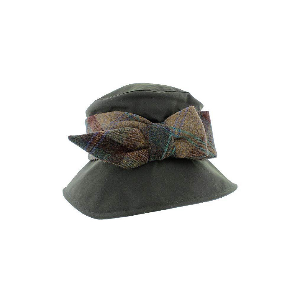 Olney Nancy Wax & Tweed Hat - Olive Olive