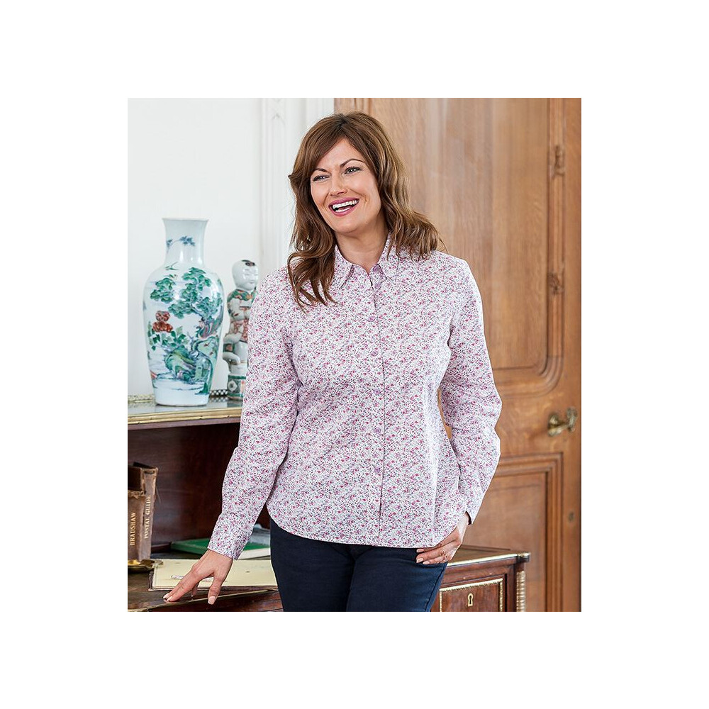 HOGGS OF FIFE Hoggs of Fife Bella Ladies Floral Shirt - Pink Floral Multi