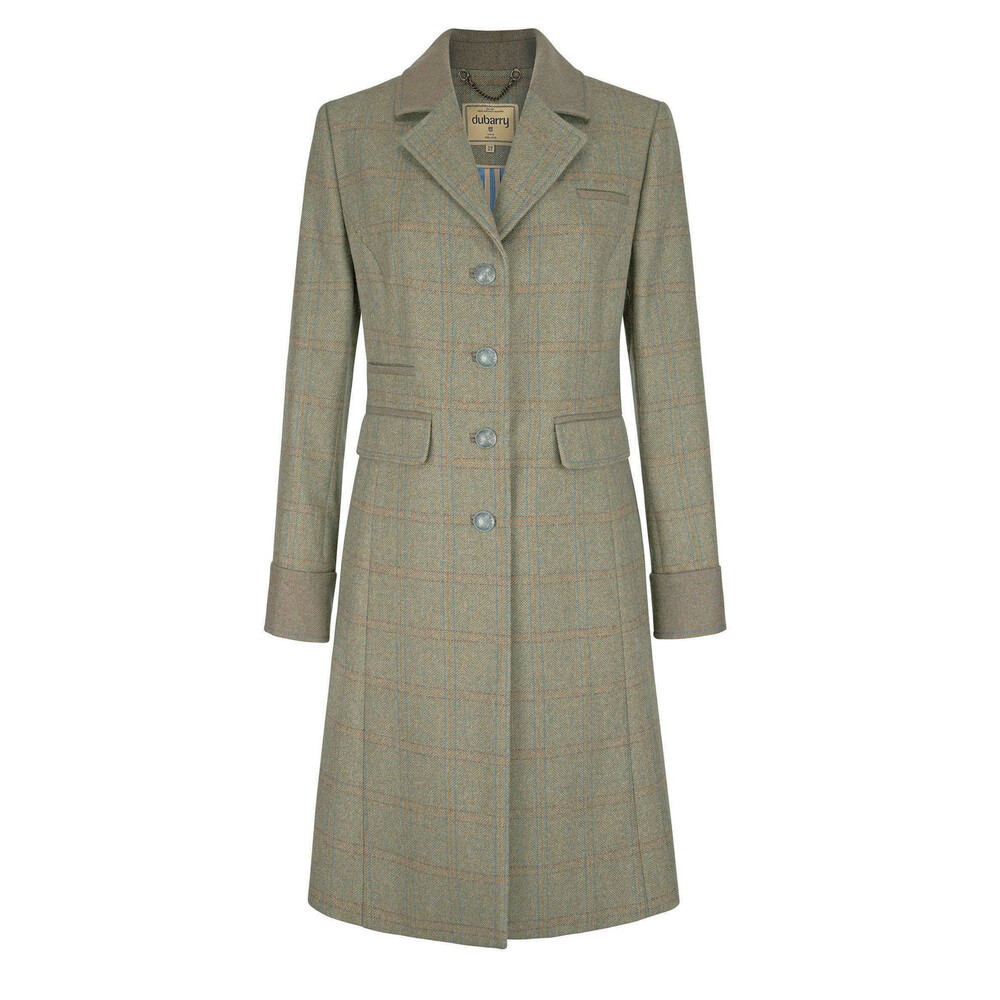 Dubarry Blackthorn Long Tweed Coat - Size 14