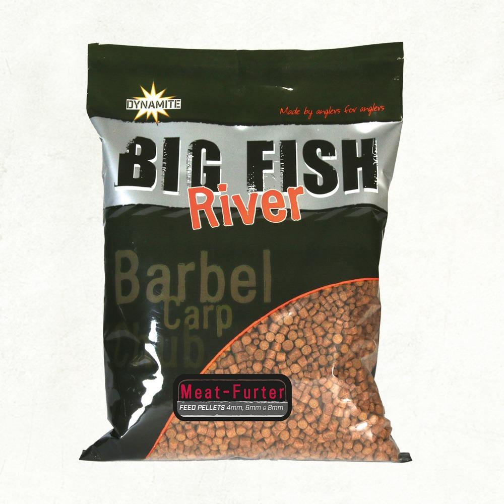 Dynamite Baits Big Fish River Pellets - Meat-Furter -  4mm, 6mm & 8mm
