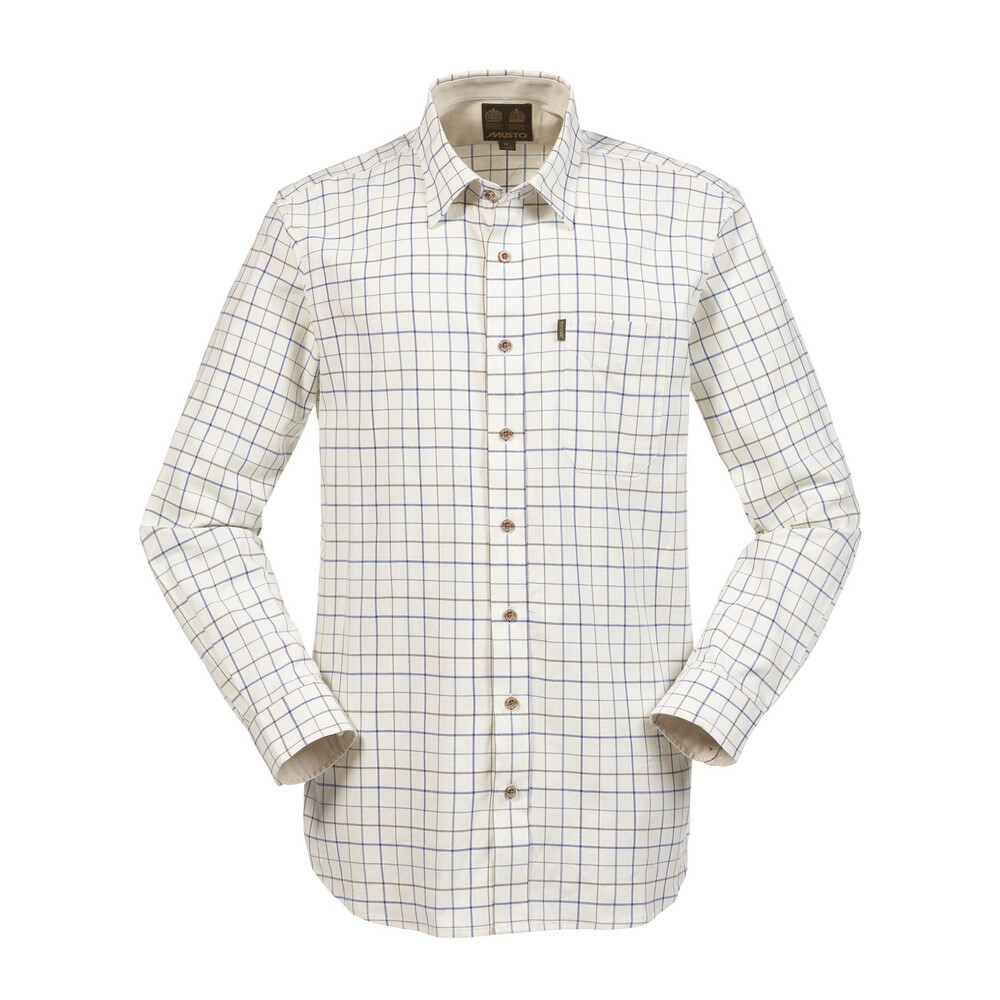 Musto Musto Classic Twill Shirt - Royal Blue Check