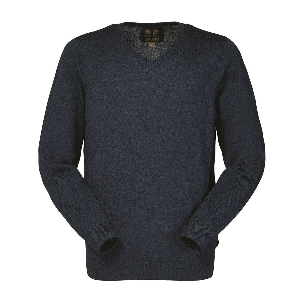 Musto Franklyn Merino V-Neck Knit - Navy