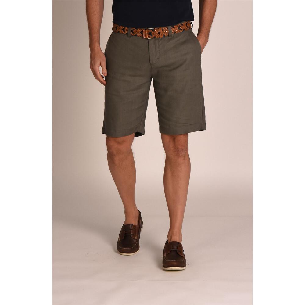 Schoffel Linen Shorts - Khaki Khaki