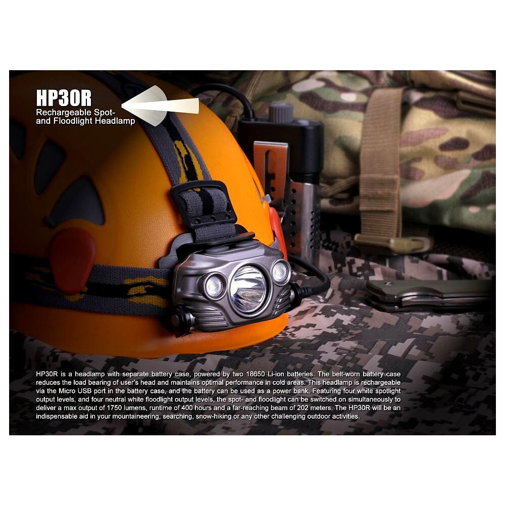 Fenix HP30R Rechargeable Headlamp Unknown