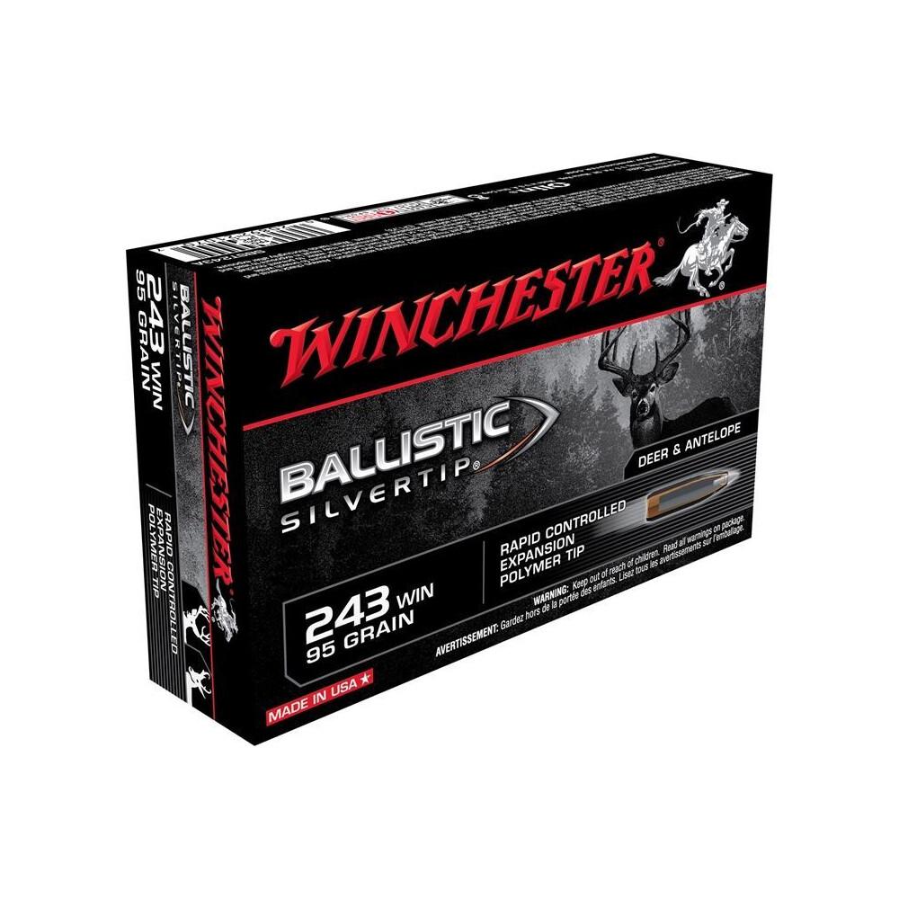 Winchester .243 Ammunition - 95gr - Ballistic Silvertip