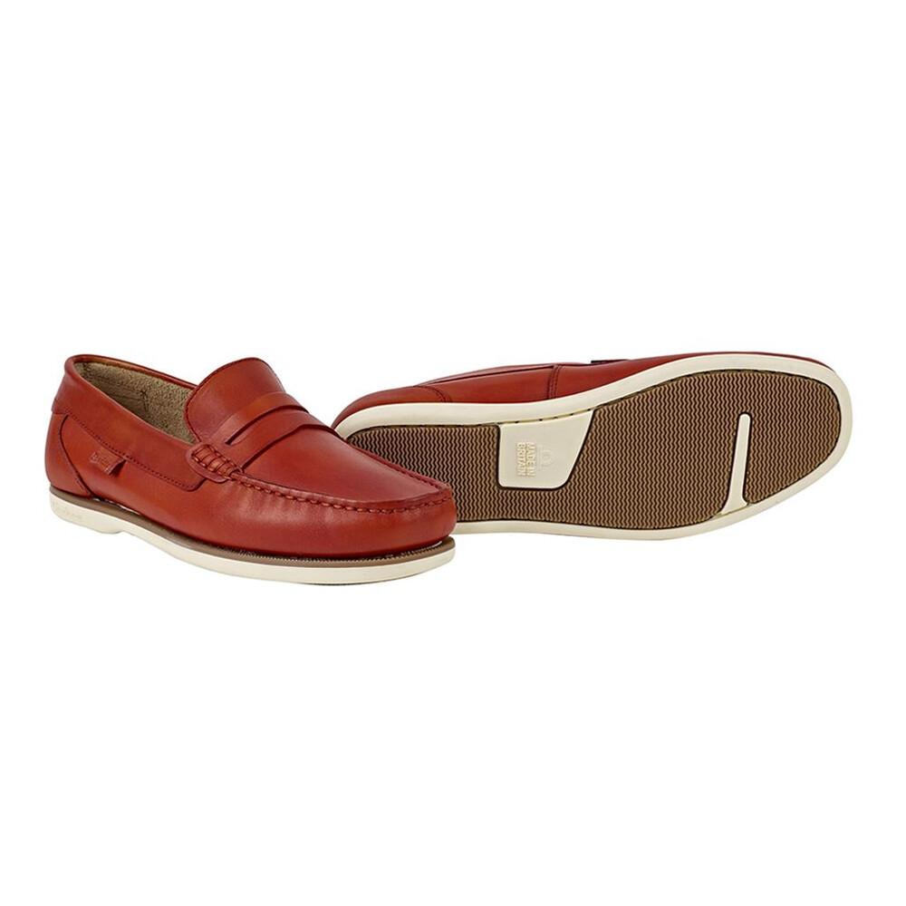 Chatham Faraday Loafer Shoe Orange
