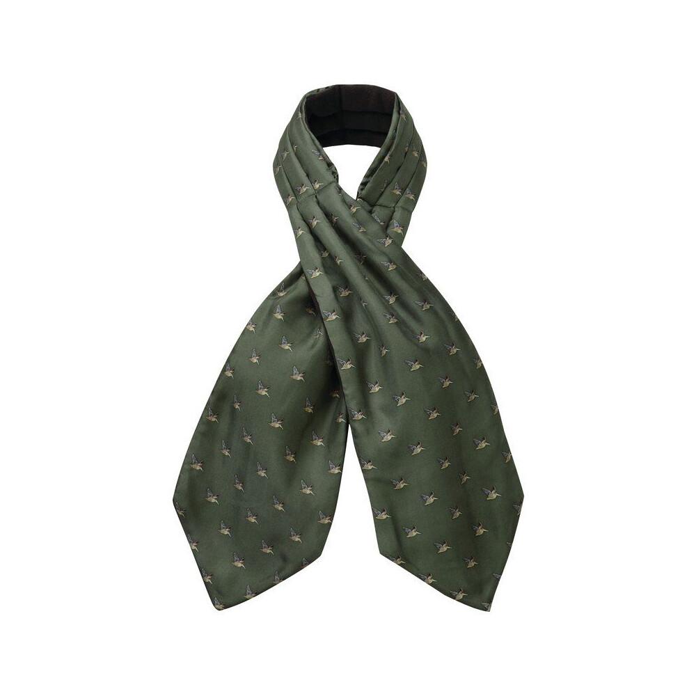 Schoffel Schoffel Silk Shooting Cravat - Dark Olive