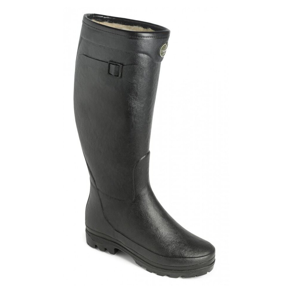 Le Chameau Le Chameau Country Lady Fourree Fur Lined Wellington Boots - Black
