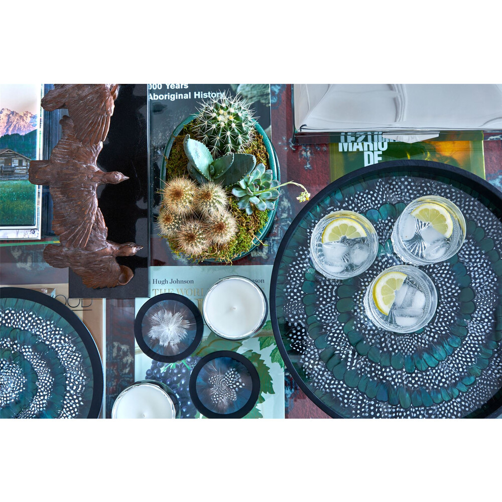 Wingfield Digby Wingfield Digby Tray - Guinea Fowl & Green Pheasant Feather