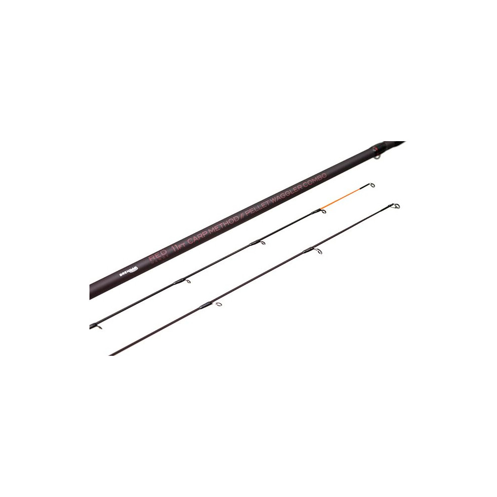 Drennan Red Range Carp Method/Pellet Waggler Combo Rod - 11ft Red
